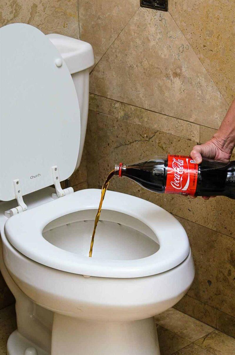 Como desentupir o vaso sanitário com refrigerante